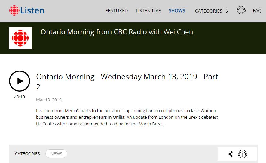 CBC Radio - CDC Radio: Women business owners and entrepreneurs in Orillia